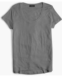 J.Crew - Scoopneck Lyocell T-shirt - Lyst