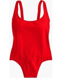4a10bf8b464 J.Crew Short Torso Ruched Halter One-piece Swimsuit in Blue - Lyst