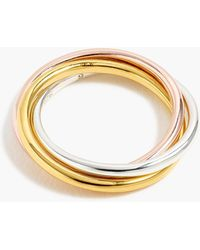 J.Crew - Demi-fine 14k Gold-plated Rolling Ring - Lyst