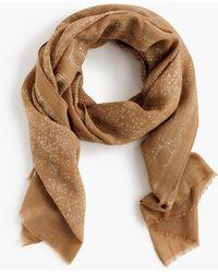 J.Crew - Lightweight Printed Wool-silk Scarf - Lyst