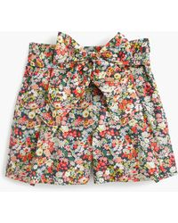 J.Crew - Tie-waist Short In Liberty Thorpe Floral - Lyst