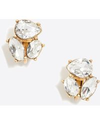 J.Crew - Clip-on Crystal Trio Earrings - Lyst