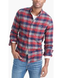 J.Crew - Slim-fit Heather Flannel Shirt In Multi-colored Buffalo Check - Lyst