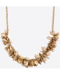 J.Crew - Golden Leaves Necklace - Lyst