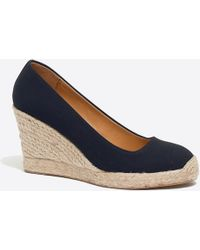 J.Crew - Canvas Espadrille Wedges - Lyst