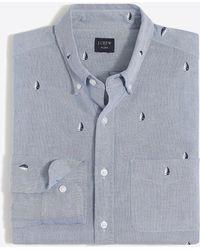J.Crew - Slim Flex Printed Oxford Shirt - Lyst