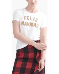 "J.Crew - ""feliz Navidad"" T-shirt - Lyst"