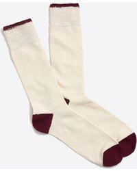 J.Crew - Marled-cotton Tipped Socks - Lyst