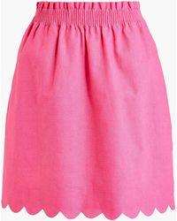 J.Crew - Scalloped Sidewalk Skirt - Lyst