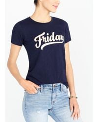 J.Crew - Friday Collector T-shirt - Lyst