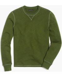 J.Crew - Slub Cotton Crewneck Sweatshirt - Lyst