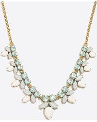 J.Crew - Gemstone Petal Necklace - Lyst