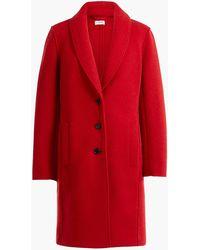 2d4fdf871e1 Lyst - J.Crew Olga Boiled Wool Topcoat in Gray