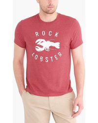 65c05927cded0 Lyst - Jaeger Lobster Printed T-shirt in Red for Men