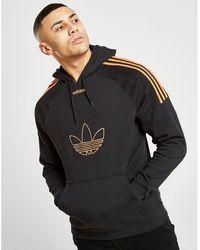 adidas Originals Flock Trefoil Cotton Sweatshirt Hoodie in