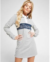 068cb31a9e169 Lyst - Ellesse Relaxed Mini T-shirt Dress With Corset Detail ...
