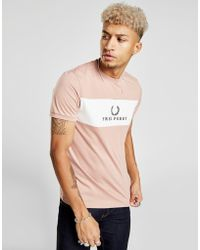Fred Perry - Central Panel T-shirt - Lyst