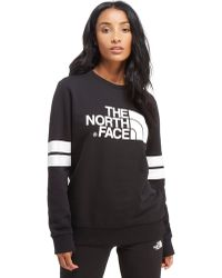 The North Face - Stripe Sleeve Crew Jumper - Lyst