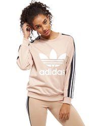 adidas Originals - 3-stripes Panel Crew Sweatshirt - Lyst
