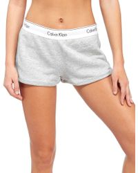 Calvin Klein - Modern Fleece Shorts - Lyst