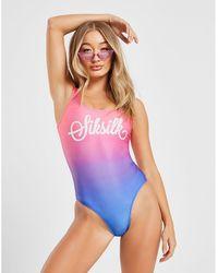 SIKSILK - Fade Swimsuit - Lyst