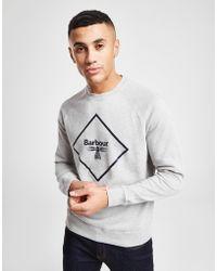 Barbour - Grey Crew Sweatshirt - Lyst