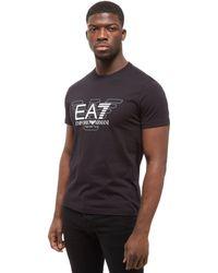 EA7 - Short Sleeve Large Eagle T-shirt - Lyst