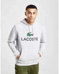 Lacoste - Pullover Logo Hoodie Grey - Lyst