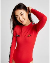 Ellesse - Tape Long Sleeve Bodysuit - Lyst
