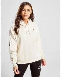 001788535b9ad1 Puma Lace Up Hoody in Pink - Lyst