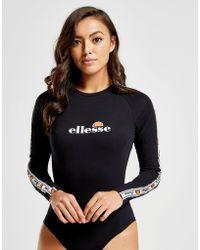 Ellesse - Tape Long Sleeve Bodysuit - Lyst