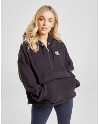 Champion - Polar Fleece 1/4 Zip Hoodie - Lyst