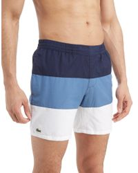 Lacoste - Colourblock Swim Shorts - Lyst