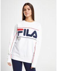 Fila - Piping Logo Crew Sweatshirt - Lyst
