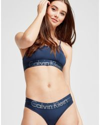 1ce6ba827fec17 Calvin Klein 205W39Nyc Focused Fit Unlined Bralette in Blue - Lyst