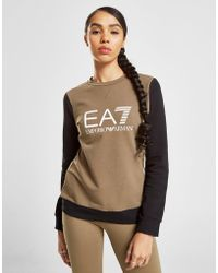 EA7 - Raglan Crew Sweatshirt - Lyst