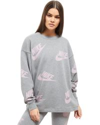 Nike - Futura All Over Print Crew Sweatshirt - Lyst