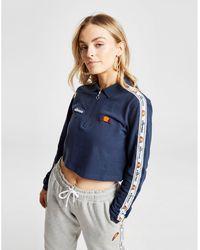 60cffb2e Ellesse - Tape Long Sleeve Crop Polo Shirt - Lyst