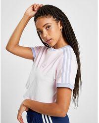 adidas Originals - 3-stripes Crop California T-shirt - Lyst