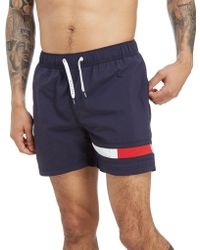 9049955e730eef Tommy Hilfiger Flag Swim Shorts in Blue for Men - Lyst