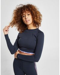 Tommy Hilfiger - Tape Long Sleeve Crop T-shirt - Lyst