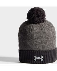 Under Armour - Logo Pom Beanie Hat - Lyst