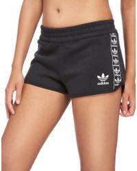 adidas Originals - Tape Fleece Shorts - Lyst