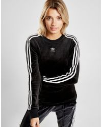 adidas Originals - 3-stripes Velvet Long Sleeve California T-shirt - Lyst