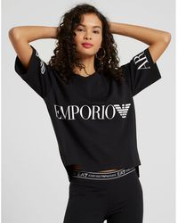 EA7 - Cropped T-shirt - Lyst