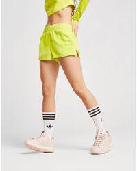 adidas Originals - Washed High Waist Shorts - Lyst