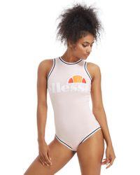 Ellesse - Tipped Logo Bodysuit - Lyst