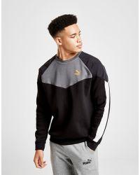 65147606bd2 In Crew Puma Men Lyst Black For Core Logo Sweatshirt IxxEwvPr