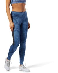 Reebok - Workout Ready Printed Tights - Lyst