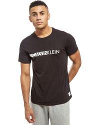 Calvin Klein - Short Sleeve Central Logo T-shirt - Lyst